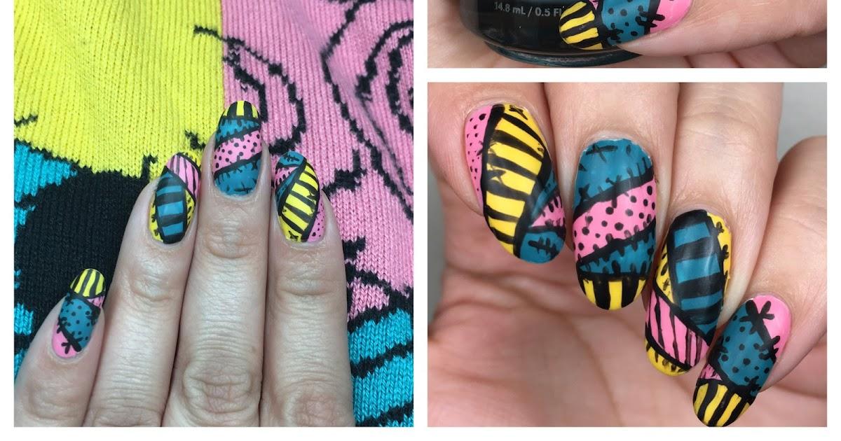 Ehmkay Nails Sally Nightmare Before Christmas Nail Art