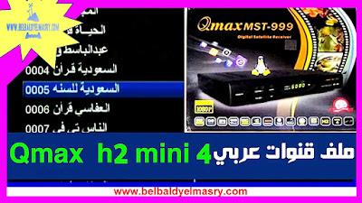 حمل احدث ملف قنوات نيل سات عربى مرتب لرسيفر qmax mst 999 mini 4 بتاريخ 15/07/2018