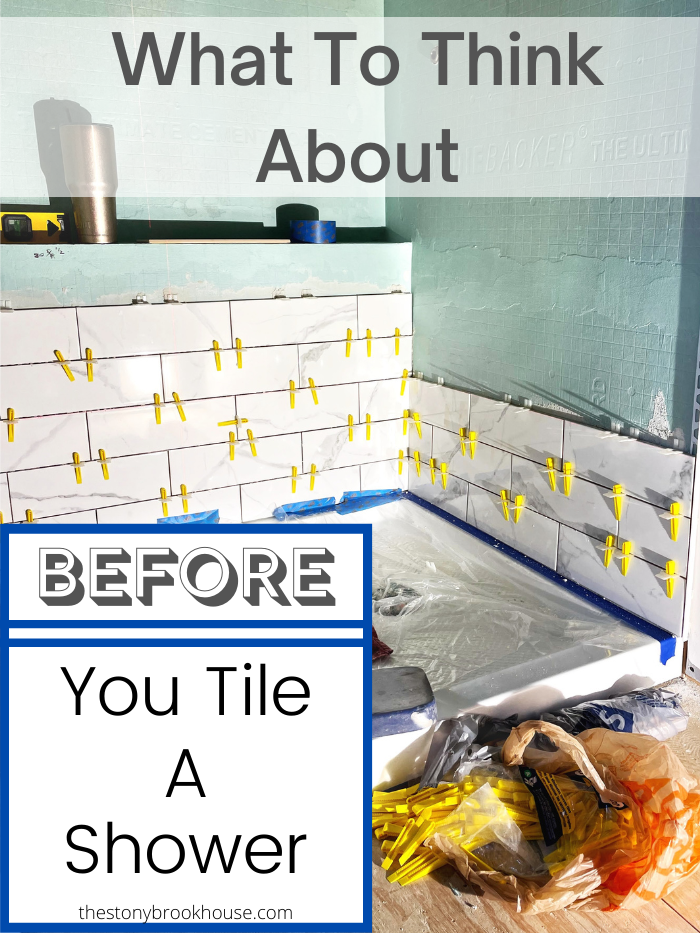 What To Think About Before You Tile A Shower