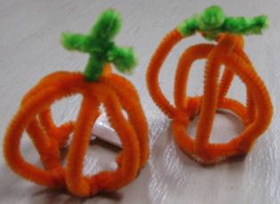 Pipe Cleaner Halloween Pumpkins Preschool Crafts For Kids