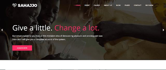 Nonprofit Fundraising & Charity WordPress Themes With Donation System   Sahajjo