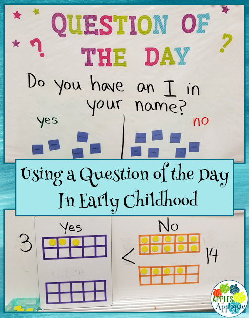 Using a Question of the Day to Increase Rigor in Early Childhood | Apples to Applique