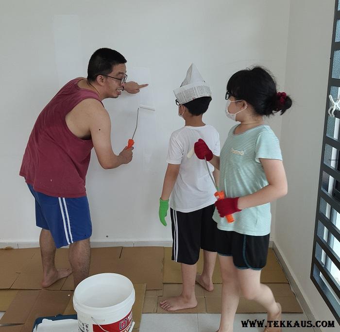 Teaching my kids how to paint