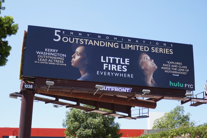 Little Fires Everywhere 2020 Emmy nominee billboard