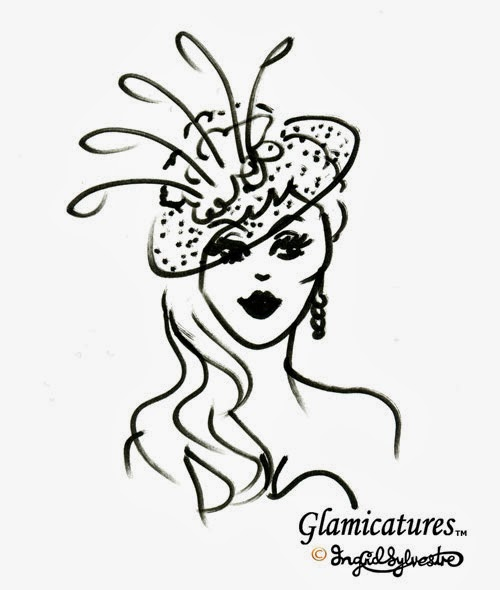 Glamicatures TM - wedding caricatures that make you look good - by Ingrid Sylvestre North East wedding entertainment party entertainment corporate events County Durham Newcastle Middlesbrough Sunderland Northumberland Yorkshire UK Entertainer Live Events Caricatures Silhouette Cutter