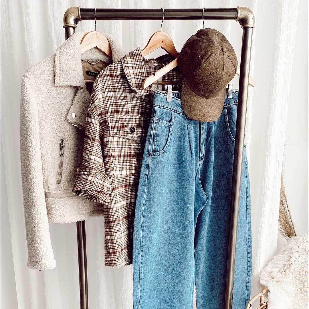 camisacos a cuadros otoño invierno 2021