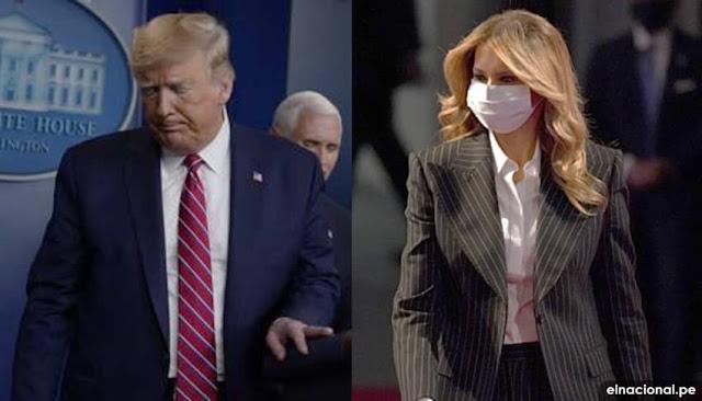 Donald Donald Trump, Melania en cuarentena tras positivo a covid-19