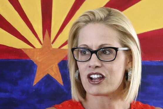 Kyrsten Sinema, Dem candidate for US Senate in Arizona, once lead leftist group that portrayed American soldiers as terror causing skeletons