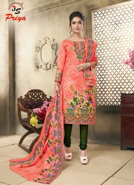 JS Priya Noor Fatima Cotton dress material wholesale