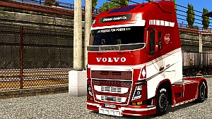 Red & White paint for Volvo 2013