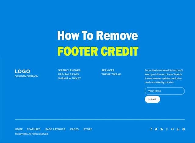How To Remove Footer Credit From Blogger Template