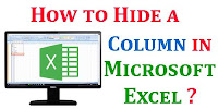 How to Hide a Column in Excel?