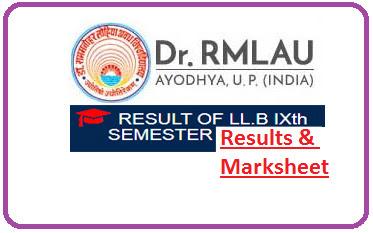 RMLAU Faizabad LLB 9th Sem Result 2021