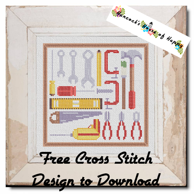 Tool Box Cross Stitch Sampler Pattern Free to Download