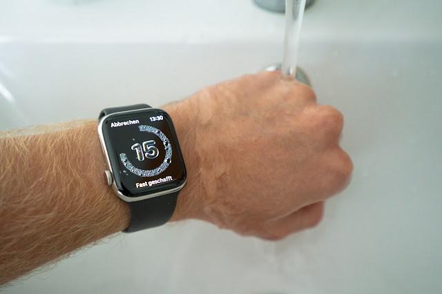 Apple Watch Series 6 Laufen Running Händewaschen
