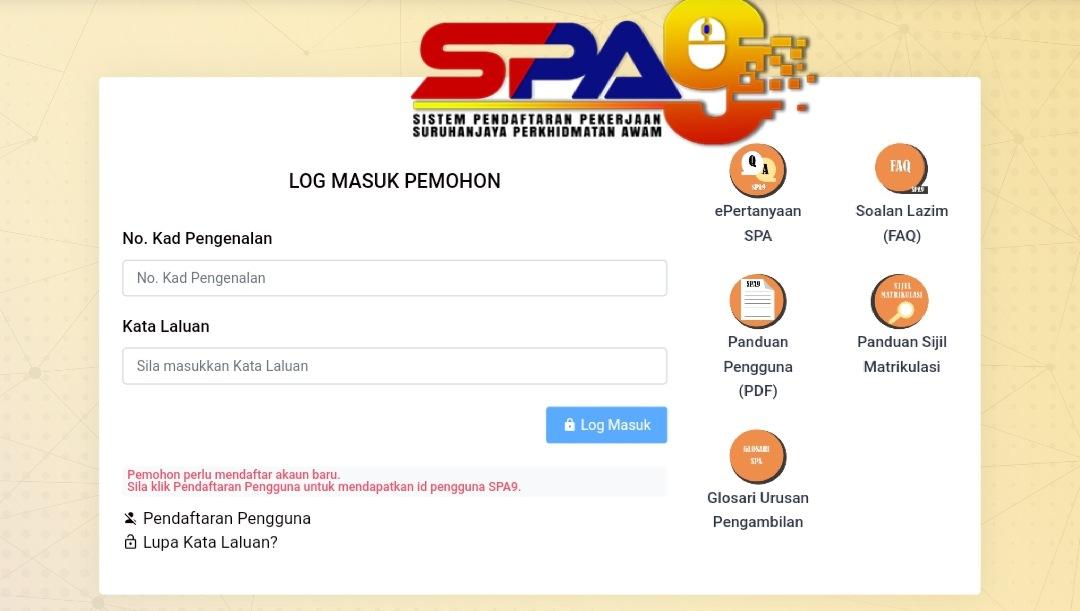 Semakan Keputusan Temuduga Spa9 2020 Kerja Kerajaan Online Spa