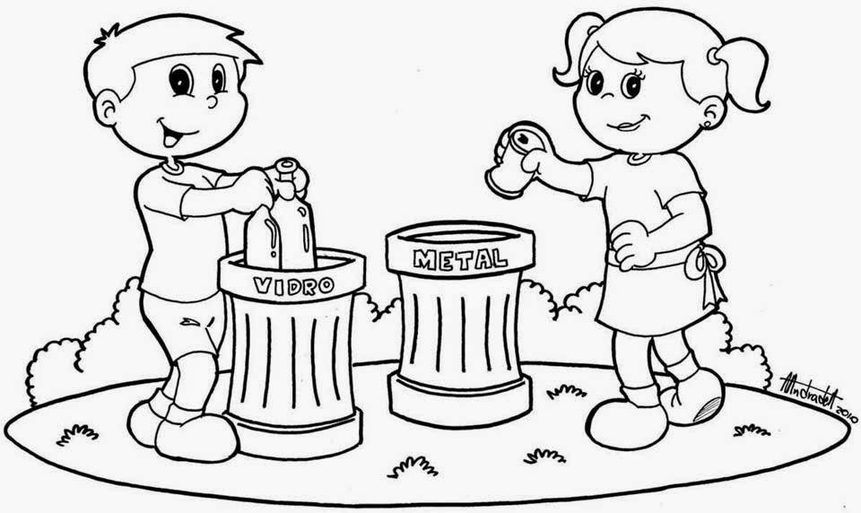 Reciclaje 12 | Dibujos para Colorear 24 |Reciclar Para Colorear