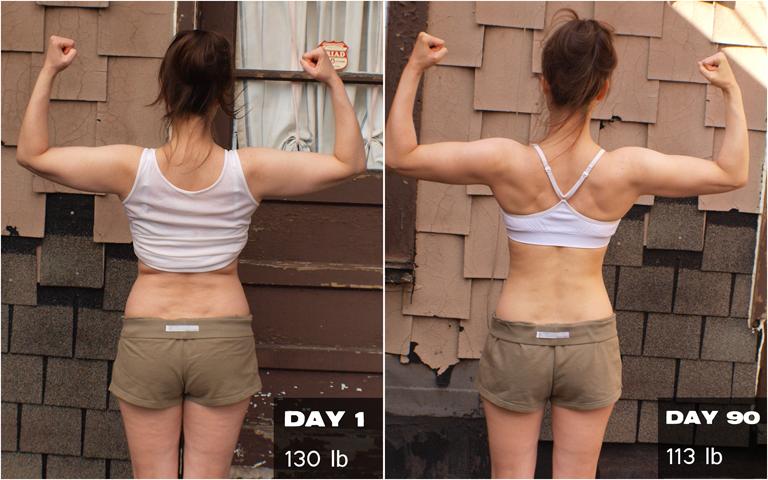 Women's P90X Transformation Results   Melanie Mitro