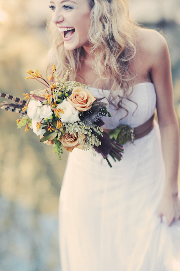 bride+groom+bridal+dress+gown+floral+hair+wreath+rustic+woodland+ecofriendly+eco+friendly+green+emerald+color+of+the+year+pantone+cake+dessert+table+reception+centerpiece+blue+hipster+fall+autumn+gideon+photography+4 - Woodland Fairytale