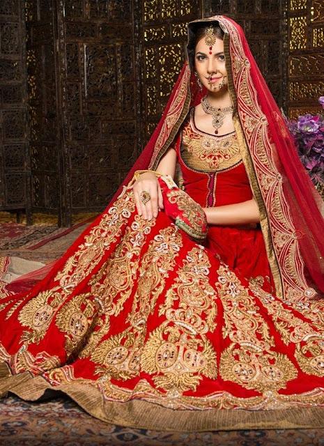 Asim Jofa Bridal collection Red lehnga 2020