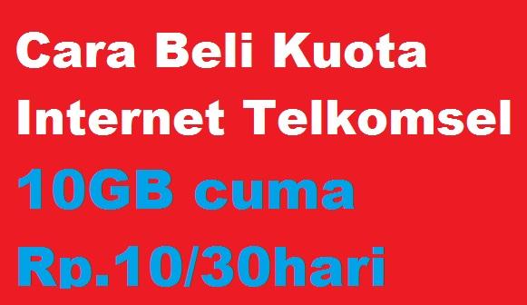 Telkomsel kembali memberikan paket data internet murah untuk kamu setia menggunakan produk Cara Daftar Paket Data Internet Telkomsel 10GB Cuma Rp.10