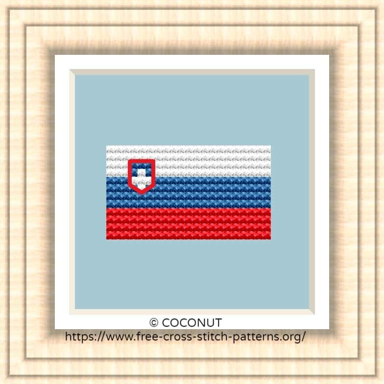 NATIONAL FLAG OF SLOVENIA CROSS STITCH CHART