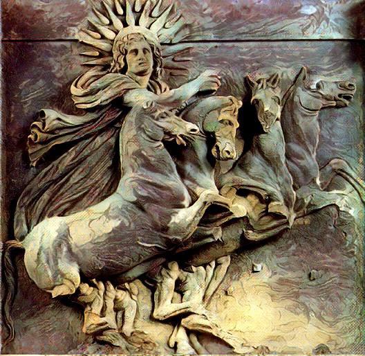 Plutone e Prosèrpina. Leggenda greca. Helios