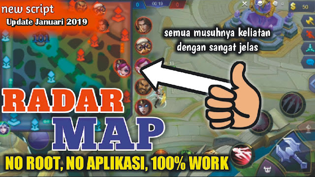 Script Radar MAP Mobalogic Mobile Legends Terbaru 06 Januari 2019