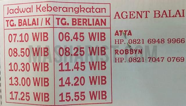 Jadwal Kapal Satria Tg. Balai - Tg. Berlian
