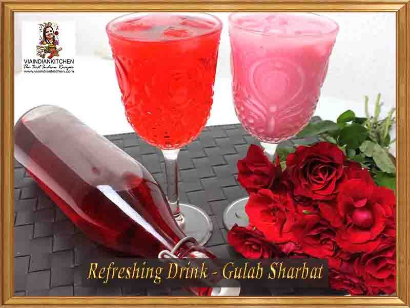 viaindiankitchen-refreshing-drinks-gulab-sharbat