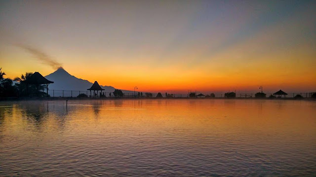 Sunset di Embung Banjaroya