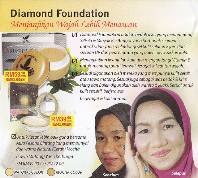 Testimoni Diamond Foundation D'Herbs
