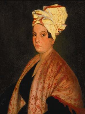 Marie Laveau por Frank Schneider (1920). Replica del original pintado en 1835 por George Caitlin