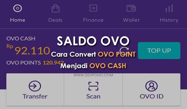 Cara Mengubah Saldo OVO Point Menjadi OVO Cash (100 % Berhasil)