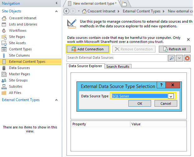 sharepoint 2016 bcs sql server tutorial