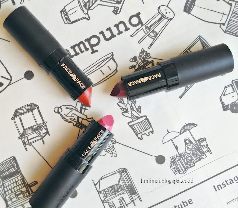 [REVIEW] Face2Face Lipstick (Electric Pink Lipstick 001, Pure Red Lipstick 004, Deep Plum Lipstick 016)