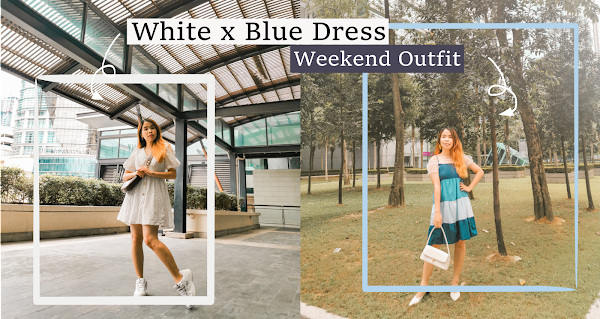 White x Blue Dress | Weekend Outfit