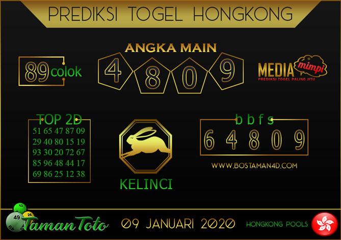 Prediksi Togel HONGKONG TAMAN TOTO 09 JANUARI 2020