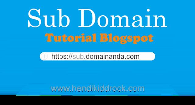 Trik Jitu Sub Domain Blogspot Niagahoster Tanpa Hosting