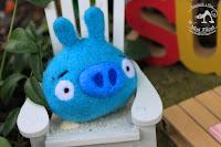 Niebieska Świnka Angry Birds -- Brelok