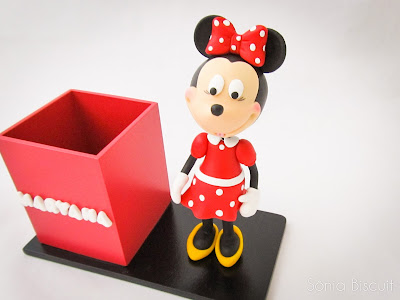 Minnie Porta-Lapis Biscuit Lembrancinha Porta-Canetas