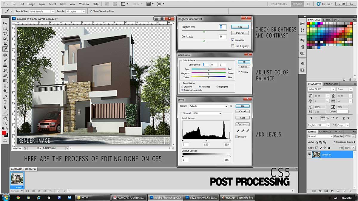 Cara setting render vray sketchup exterior - Arifin Art