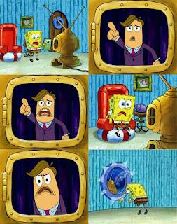 Polosan meme spongebob dan patrick 111 - narator televisi spongebob