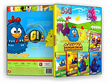 DVD Coleção - Galinha Pintadinha - 5 em 1 - ISO