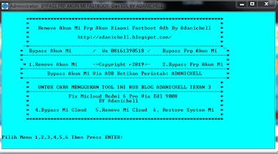Cara Bypass Micloud Redmi 6 Pro