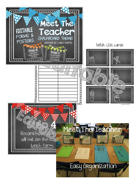 Forms and signs for Open House and Meet the Teacher