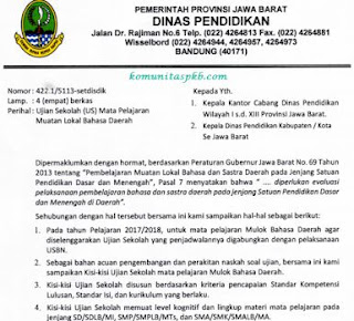 Kisi-Kisi US Bahasa Sunda 2018