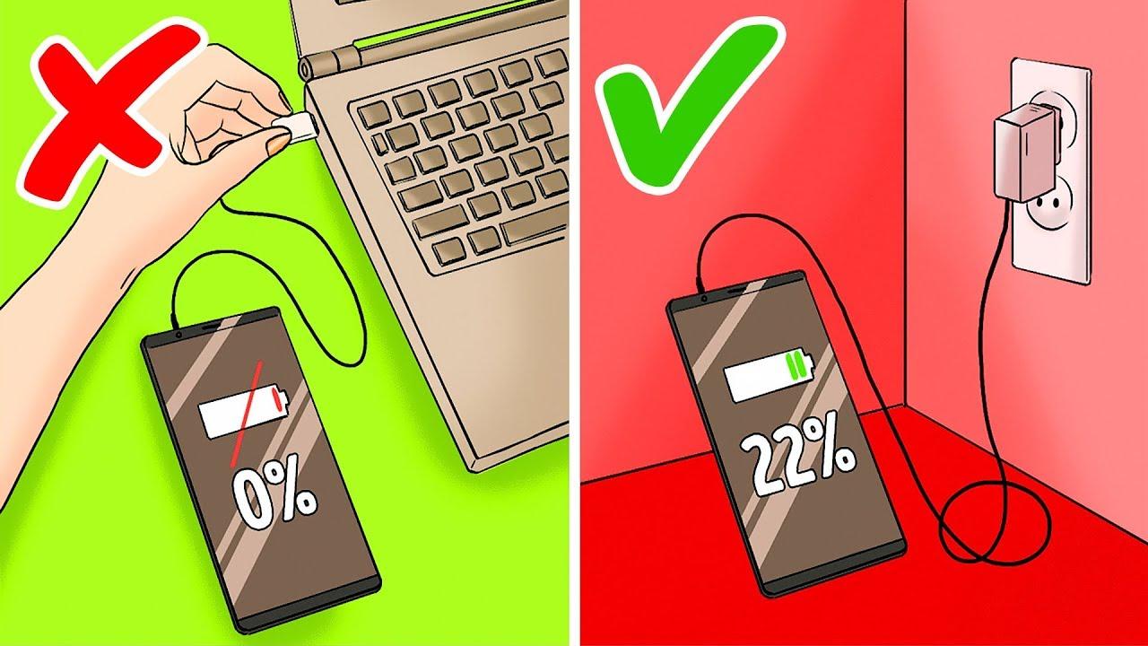 لا يجب أن تدع بطاريتك تصل إلى صفر%