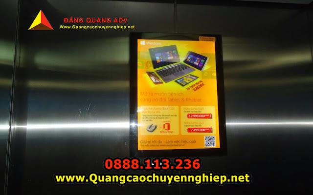 Quảng cáo trong thang máy giá rẻ