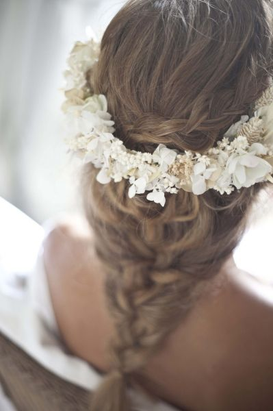 Peinado de novia con trenza